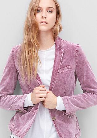 Stretch blazer made of velvet from s.Oliver