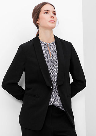 Stretch blazer with a button fastener from s.Oliver