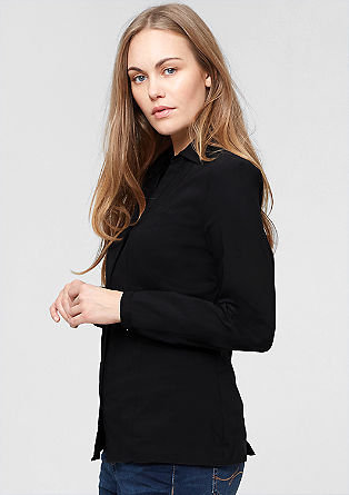 Stretch blouse with a V-neckline from s.Oliver
