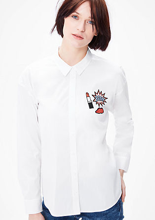 Stretch blouse with patches from s.Oliver
