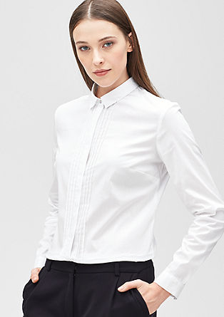 Stretch blouse with pin tucks from s.Oliver