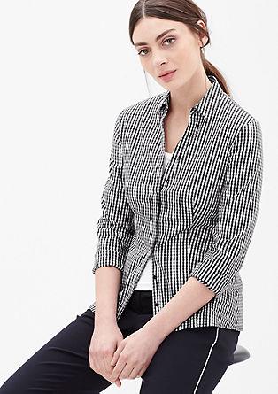 Stretch-Bluse mit Allovermuster