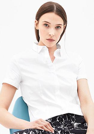 Stretch-Bluse mit Knopfleiste