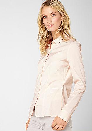 Stretch-Bluse mit tonigen Knöpfen