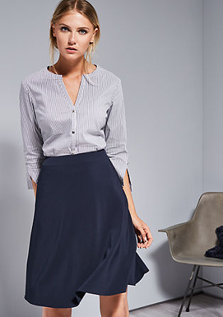 Stretch-Bluse mit Tunikaausschnitt