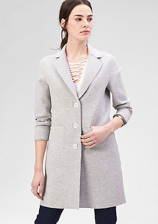 Stretch coat with a white interior from s.Oliver