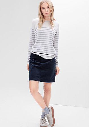 Stretch corduroy skirt from s.Oliver