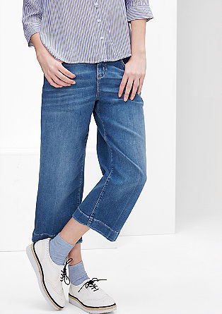 Stretch denim culottes from s.Oliver