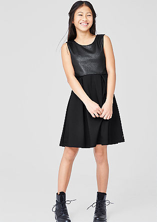 Stretch dress in a leather look from s.Oliver