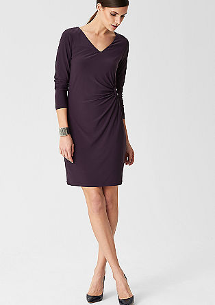 Stretch dress with a draped effect from s.Oliver