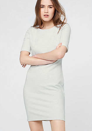 Stretch dress with a ribbed texture from s.Oliver