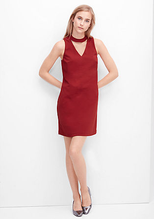 Stretch dress with a sophisticated cut-out from s.Oliver