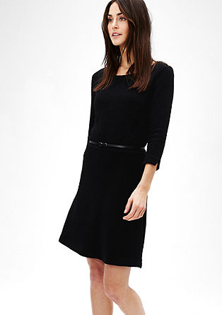 Stretch dress with a textured pattern from s.Oliver