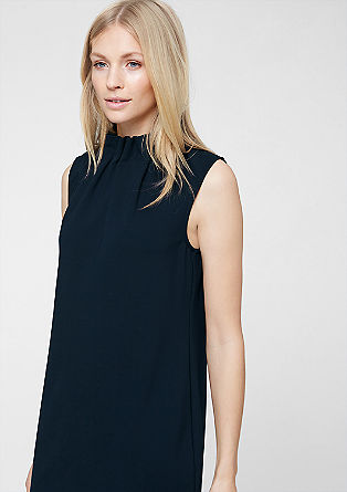 Stretch dress with stand-up collar from s.Oliver