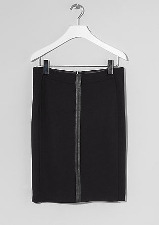 Stretch fake leather detail skirt from s.Oliver