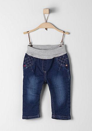 Stretch-Jeans mit Rippbund