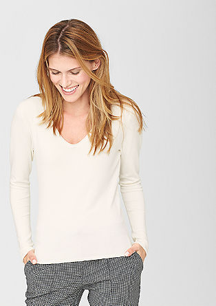 Stretch jumper with a wide neckline from s.Oliver