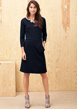 Stretch-Kleid aus Interlock-Jersey