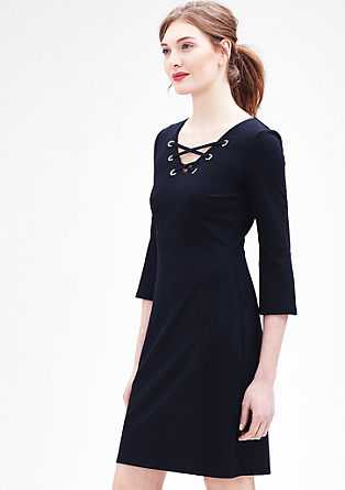 Stretch-Kleid mit Cording