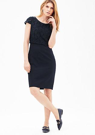 Stretch-Kleid mit Layering