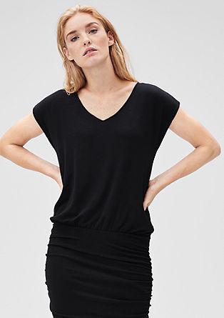 Stretch-Kleid mit Metallic-Streifen