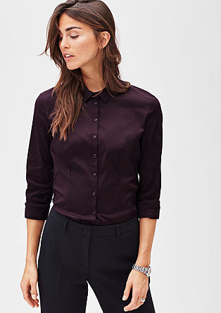 Stretch poplin blouse from s.Oliver