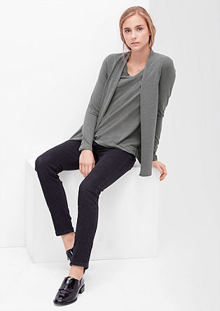 Stretch-Pullover mit two-in-one Detail