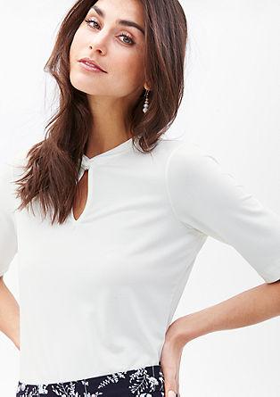 Stretch-Shirt mit Knoten-Detail