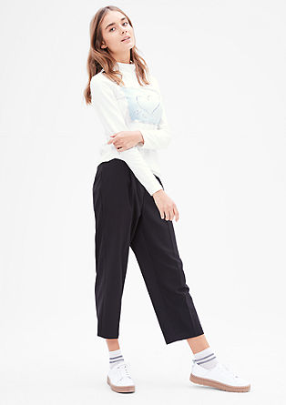 Stretch-Shirt mit Pailletten