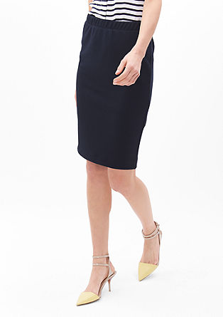 Stretch skirt with honeycomb texture from s.Oliver