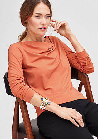 Stretch top with a fine shimmer from s.Oliver