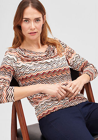 Stretch top with an all-over print from s.Oliver
