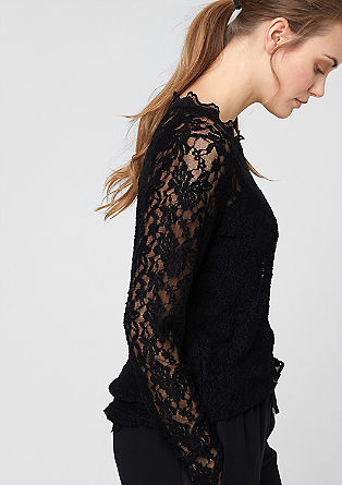 Stretch top with lace from s.Oliver