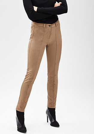Stretch trousers in a suede look from s.Oliver