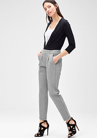Stretch trousers with waist pleats from s.Oliver