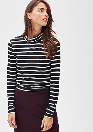 Stretch viscose polo neck from s.Oliver