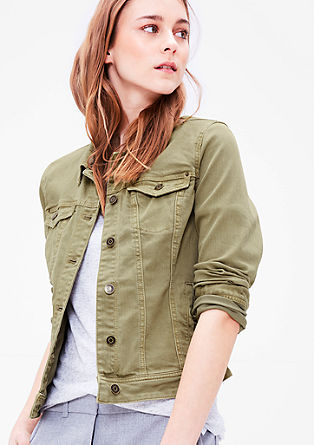Stretchige Colored Denim-Jacke