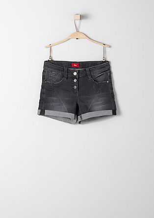 Stretchige Jeans-Shorts