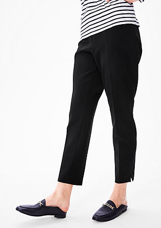 Stretchy ankle-length trousers from s.Oliver