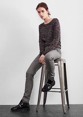Stretchy broek met glanseffect