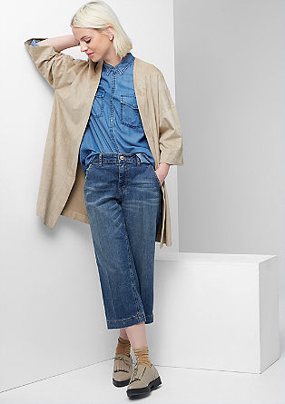 Stretchy denim culottes  from s.Oliver