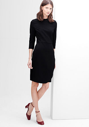 Stretchy dress with a wrap-over effect from s.Oliver