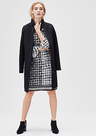 Stretchy dress with an all-over pattern from s.Oliver