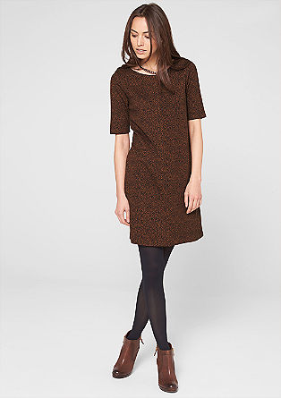 Stretchy dress with an all-over print from s.Oliver