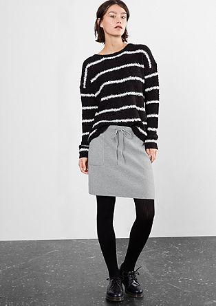 Stretchy fijngebreide rok