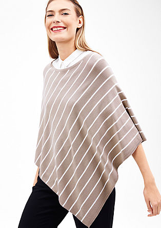 Stretchy fine knit poncho from s.Oliver