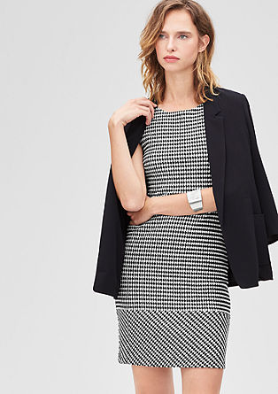 Stretchy jacquard sheath dress from s.Oliver