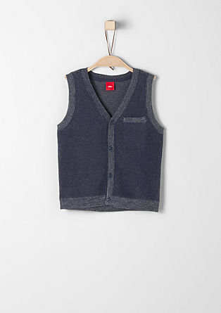 Stretchy knitted waistcoat from s.Oliver