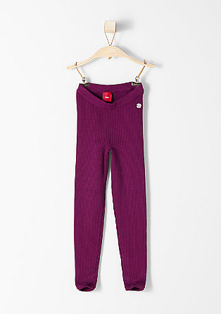 Stretchy ribbed leggings from s.Oliver