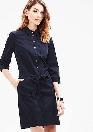 Stretchy shirt dress